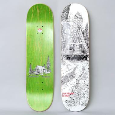 Heroin 8.25 Lee Yankou Cabin Series 2 Skateboard Deck White