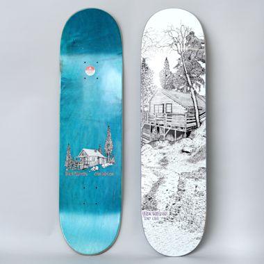 Heroin 8.38 Tony Karr Cabin Series 2 Skateboard Deck White