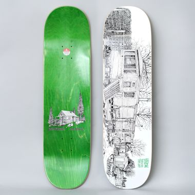 Heroin 8.5 Tom Day Cabin Series 2 Skateboard Deck White