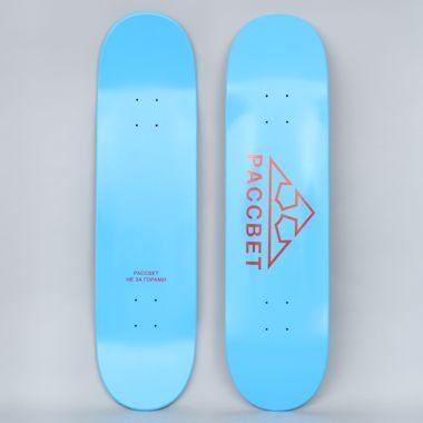 Paccbet 8.25 Paccbet Logo Skateboard Deck Blue