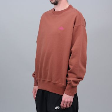 Second view of Paccbet Embroidered Crew Brown