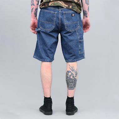 """Second view of Dickies 11"""" Relaxed Fit Carpenter Shorts Stonewashed Indigo Blue"""
