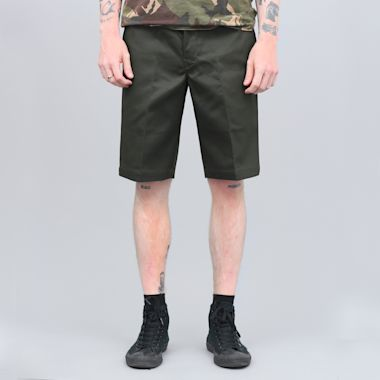 Dickies 273 Slim Fit Work Shorts Olive Green
