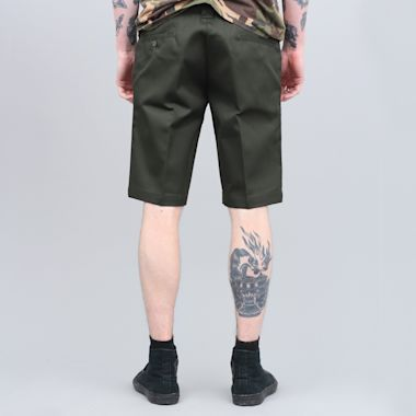 Second view of Dickies 273 Slim Fit Work Shorts Olive Green