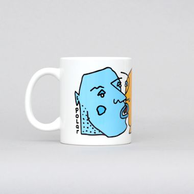 Polar Kissing Faces Mug White