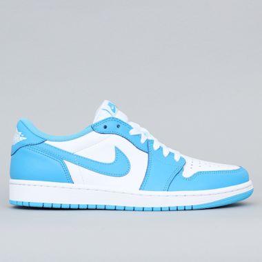 Photos of Nike SB Air Jordan 1 Low QS Shoes Dark Powder Blue / Dark Powder Blue - DIGITAL PRODUCT