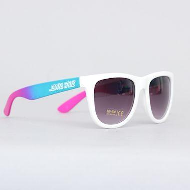 Santa Cruz Jammer Fade Sunglasses White Fade