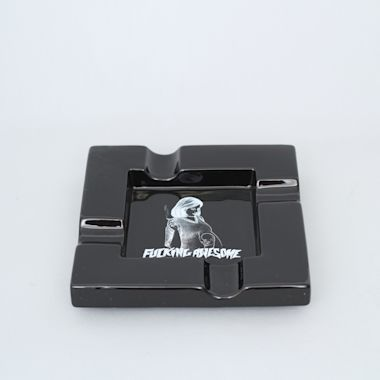 Fucking Awesome Pregnant Ashtray Black