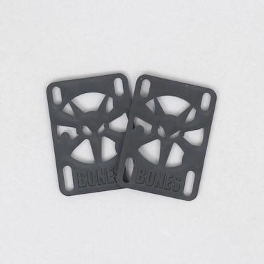 Bones 1/8 inch Skateboard Risers Black (Pack Of 2)