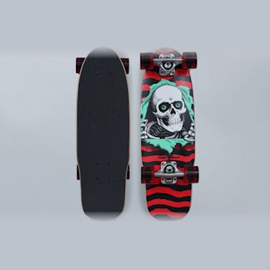 Powell Peralta 7.5 Micro Mini Ripper 187 Complete Skateboard Red / Black