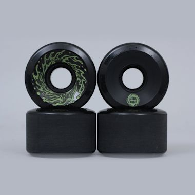 Santa Cruz 60mm 78A Slime Balls Wheels Black Glow