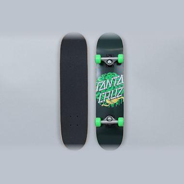 Santa Cruz 6.75 Brain Dot Sk8 Complete Skateboard Green