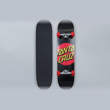 Santa Cruz 7.25 Classic Dot Sk8 Complete Skateboard Black / Red