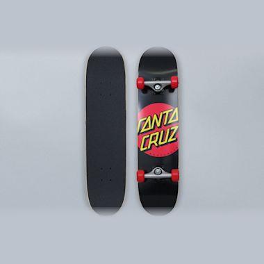 Santa Cruz 7.25 Classic Dot Sk8 Complete Skateboard Black / Red