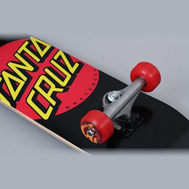 Second view of Santa Cruz 7.25 Classic Dot Sk8 Complete Skateboard Black / Red