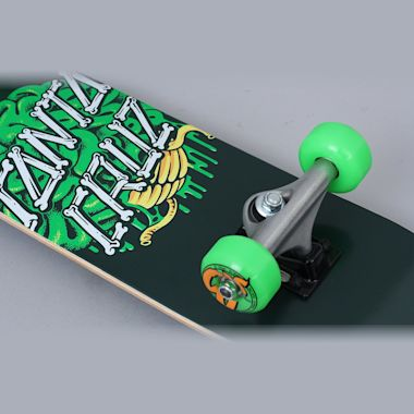 Second view of Santa Cruz 6.75 Brain Dot Sk8 Complete Skateboard Green