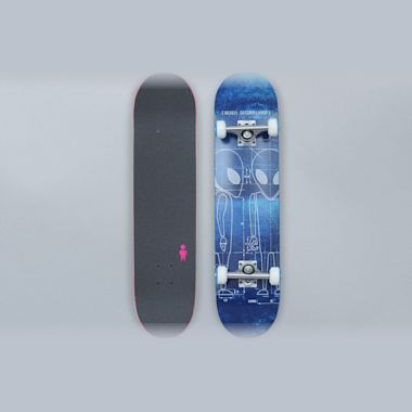 Alien Workshop 7.625 Blueprint Complete Skateboard Blue