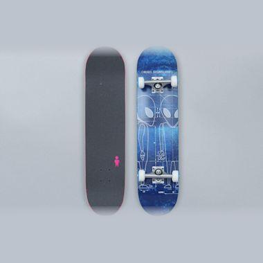 Alien Workshop 7.625 Blueprint Complete Skateboard Blue