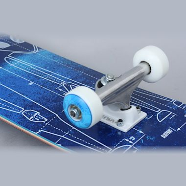 Second view of Alien Workshop 7.625 Blueprint Complete Skateboard Blue
