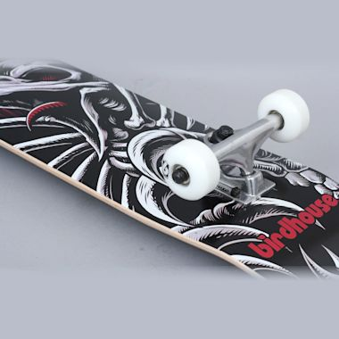 Second view of Birdhouse 7.5 Hawk Stranger Stage 1 Complete Skateboard Black / Red