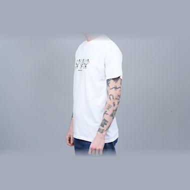 Second view of Blast Skates Ragin Mascot T-Shirt White