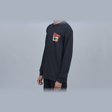 Second view of Hockey Nail Longsleeve T-Shirt Black