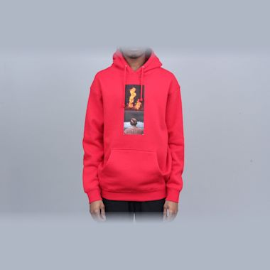 Hockey View Hood Red