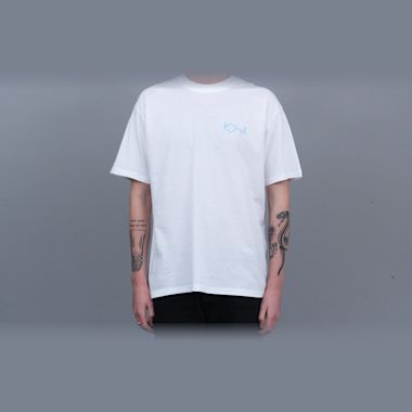 Second view of Polar Fill Logo T-Shirt White / Pool Blue