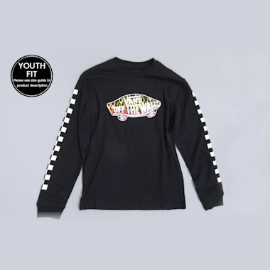 Vans OTW Fill Logo Youth Longsleeve T-Shirt Black / Flame