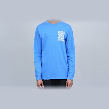 Second view of 5Boro Lucky NY Longsleeve T-Shirt Royal Blue