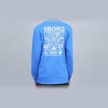 5Boro Lucky NY Longsleeve T-Shirt Royal Blue
