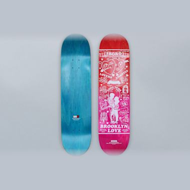 5Boro 8 Lucky Brooklyn Skateboard Deck Red / Pink