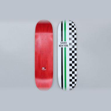 5Boro 8.25 Speedway Skateboard Deck White / Green