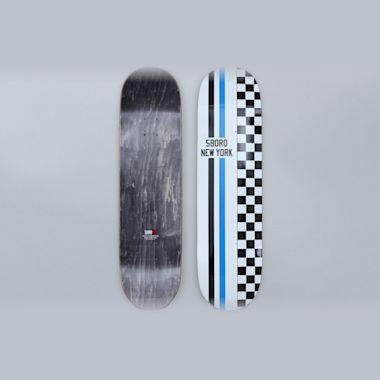 5Boro 8.375 Speedway Skateboard Deck White / Blue