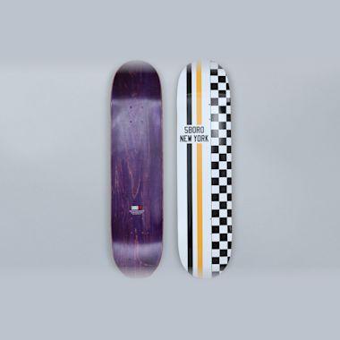 5Boro 7.75 Speedway Skateboard Deck White / Yellow