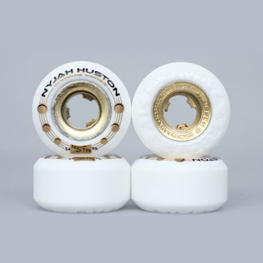 Ricta 54mm 99A Nyjah Huston Chrome Core Wheels White