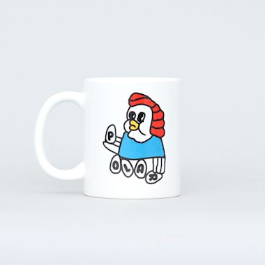Polar Chicken Mama Mug White