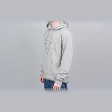 Second view of Blobys Jump Rope Hood Heather Grey