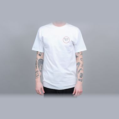 Brixton Wheeler II Standard T-Shirt White / Black / Red
