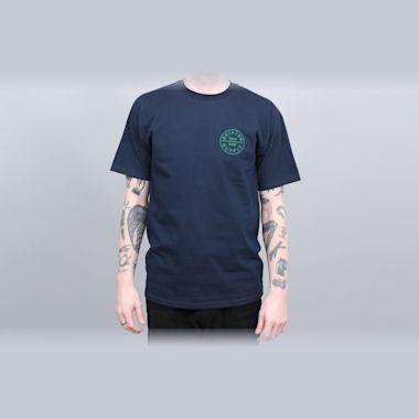 Brixton Oath Standard T-Shirt Navy / Green