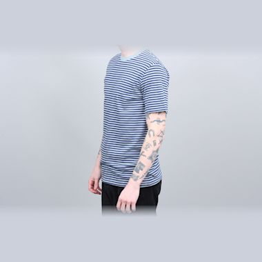 Second view of Brixton Pablo Knit T-Shirt Blue Stone