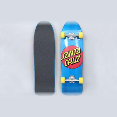 Santa Cruz 9.35 Classic Dot 80s Complete Skateboard Blue