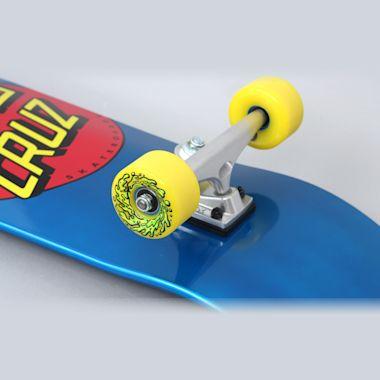 Second view of Santa Cruz 9.35 Classic Dot 80s Complete Skateboard Blue