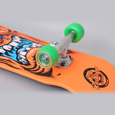 Second view of Santa Cruz 8.025 Roskopp Face Mini 80s Complete Skateboard Orange