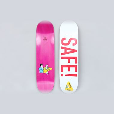 Palace 8.1 Safe Skateboard Deck White