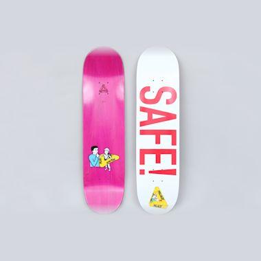 Palace 8.1 Safe Skateboard Deck White