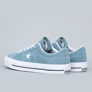 Second view of Converse One Star Pro OX Shoes Celestial Teal / Black / White