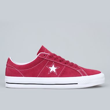 Converse One Star Pro OX Shoes Rhubarb / Black / White