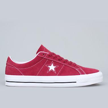Converse One Star Pro OX Shoes Rhubarb / Black / White
