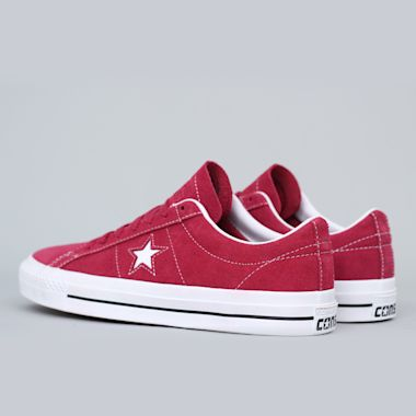 Second view of Converse One Star Pro OX Shoes Rhubarb / Black / White